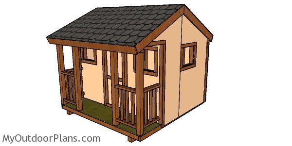 8x8 Playhouse Plans Myoutdoorplans Free Woodworking Plans And