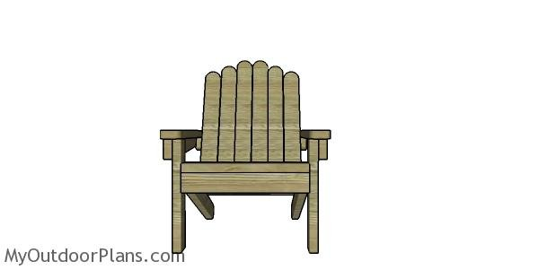 Adirondack chair made from 2x4s plans