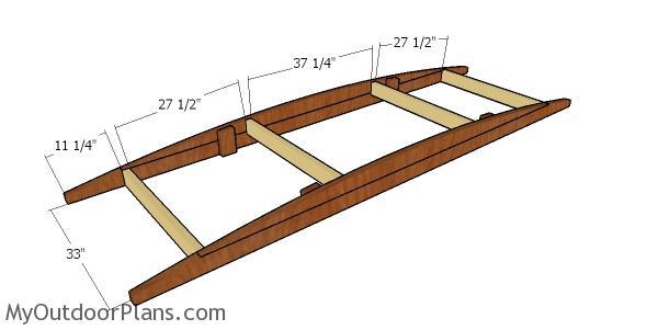 Assembling the frame of the bridge