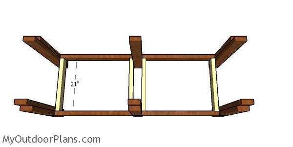 Assembling the lower frame