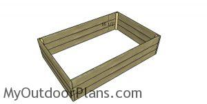 Assembling the raised bed