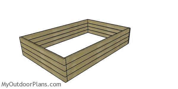 Assembling the raised garden box