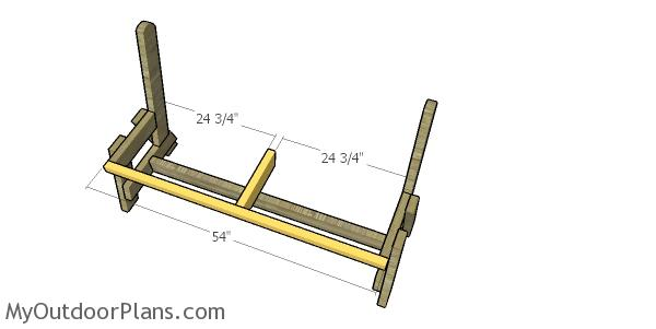 Assembling the seat frame