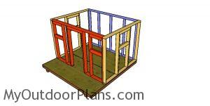 Assembling the shed frame