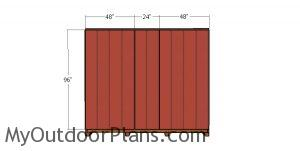 Back wall siding sheets