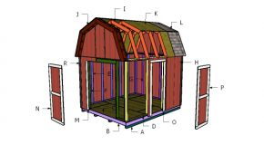 10×12 Barn Shed Roof Plans