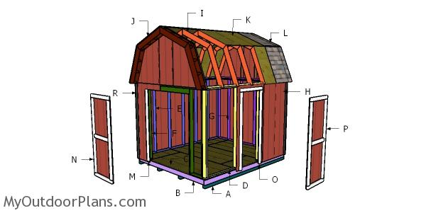 10x12 Barn Shed Roof Plans