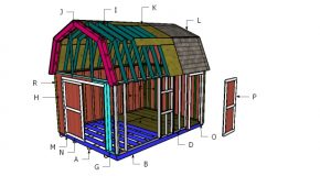 12×16 Barn Shed Roof Plans