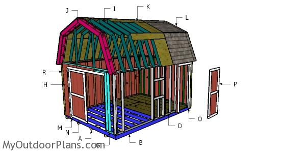 12x16 Barn Shed Roof Plans