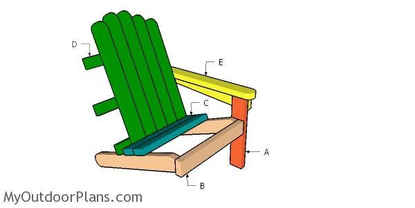 Building a 2x4 adirondack chair