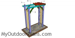 Building a 2x4 arbor