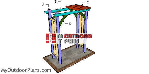 Building-a-2x4-arbor
