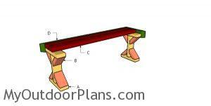 Building a 2x4 deck bench