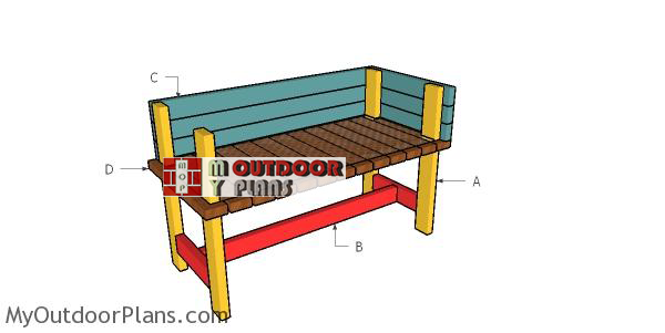 Building-a-2x4-elevated-planter-box