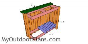 Building a 2x4 outdoor bar