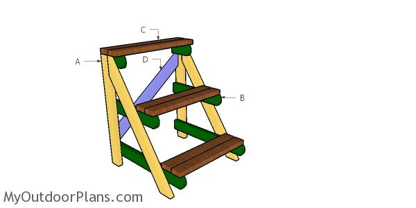 Building a 2x4 plant stand