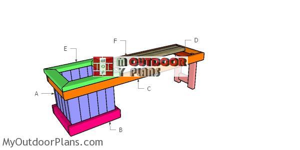 Building-a-2x4-planter-bench