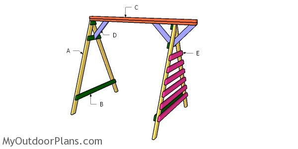 Building a 2x4 toddler swing set