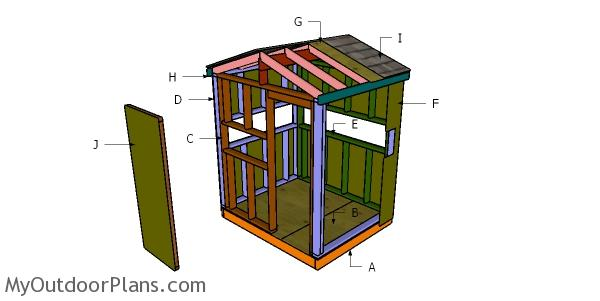 5x6 Deer Blind Roof Plans
