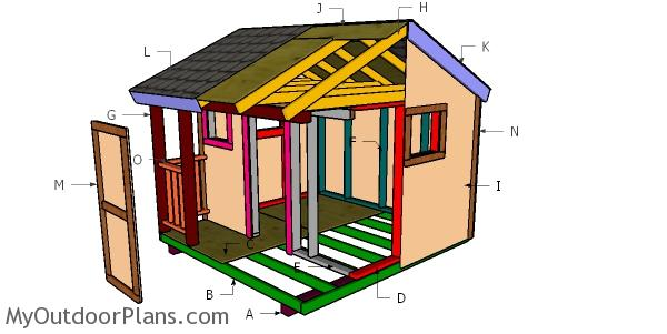 8x8 Playhouse Roof Plans