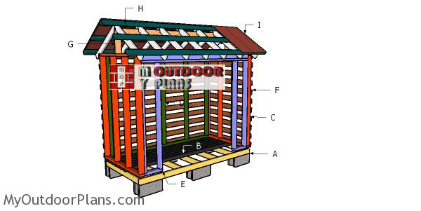 Building-a-firewood-shed-from-2x4s