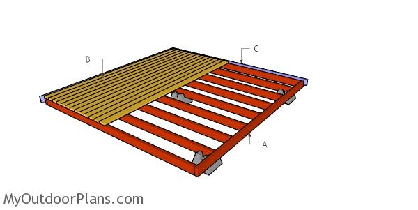 Building a ground level deck from 2x4s