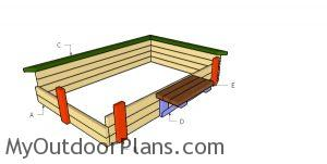 Building a raised garden bed from 2x4s