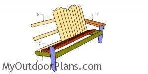 Building an adirondack bench