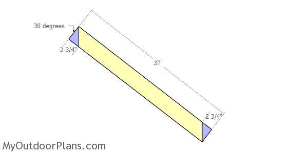 Building the back diagonal brace