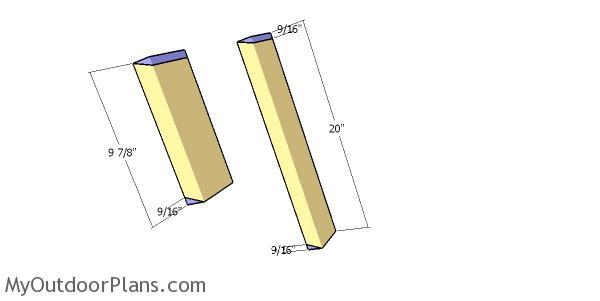 Building the back slats