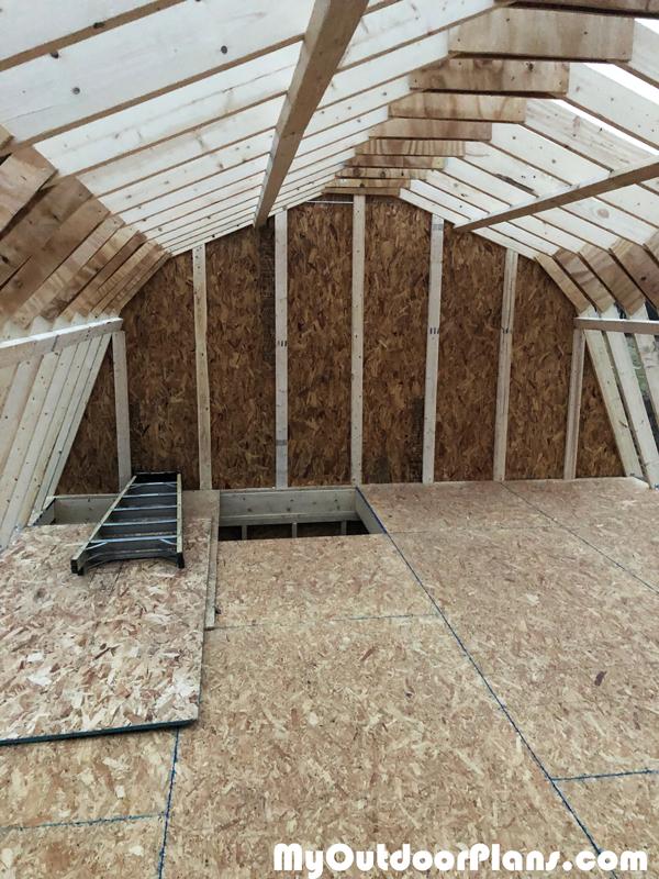 DIY-16x20-Gambrel-Shed loft