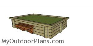 DIY Raised Garden Bed made from 2x4s Plans