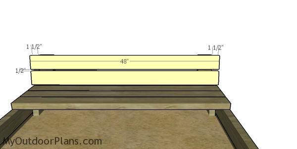 Fitting the backrest slats