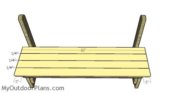 Fitting the bench seat slats