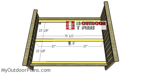 Fitting-the-cleats---bed-frame
