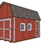 12×16 Gambrel Shed Plans