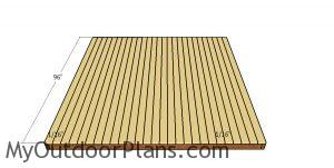 Fitting the decking boards