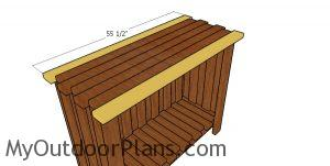 Fitting the end tabletop slats