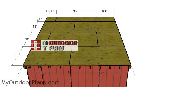 Fitting-the-roof-sheets---12x14-shed