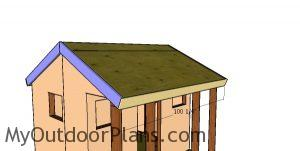 Fitting the roof trims