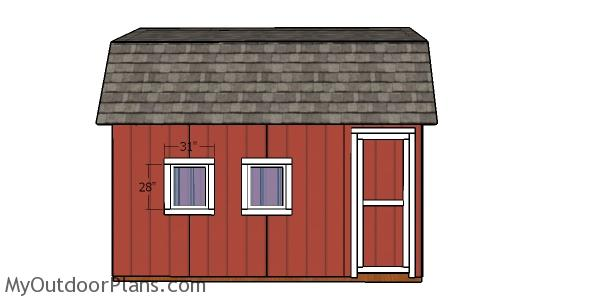12×16 Barn Shed Doors Plans