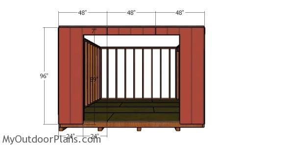 Front siding sheets