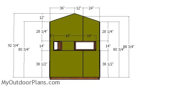 5x6 Deer Blind Roof Plans | MyOutdoorPlans | Free Woodworking Plans  X Fish House Plans on
