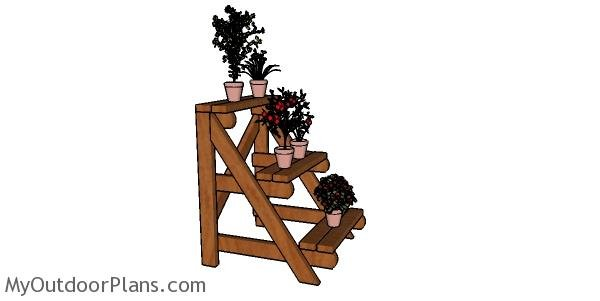 How to build a 2x4 Plant Stand Plans