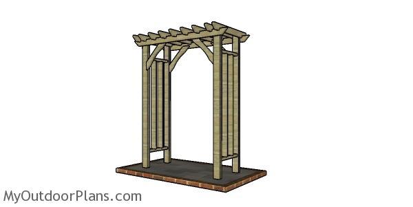 How to build a 2x4 arbor