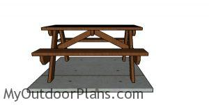 How to build a 5 foot picnic table