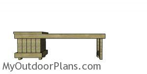 How to build a planter bench with 2x4s