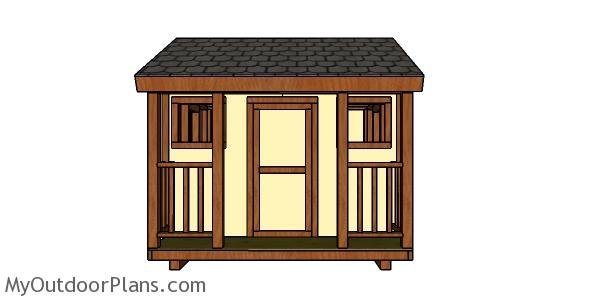8x8 Playhouse Trims and Railings Plans