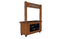 2×4 Lemonade Stand Plans