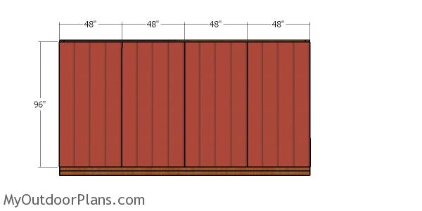 Plain side wall siding sheets